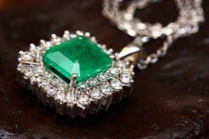 pendant with green gemstone